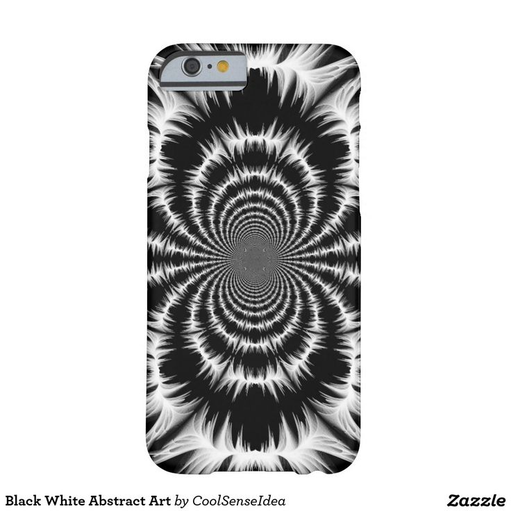 Black White Abstract Art Barely There iPhone 6 Case