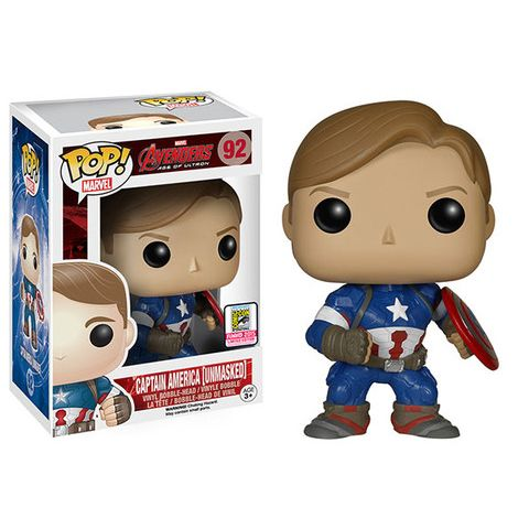Captain America Unmasked Marvel Funko POP! Vinyl