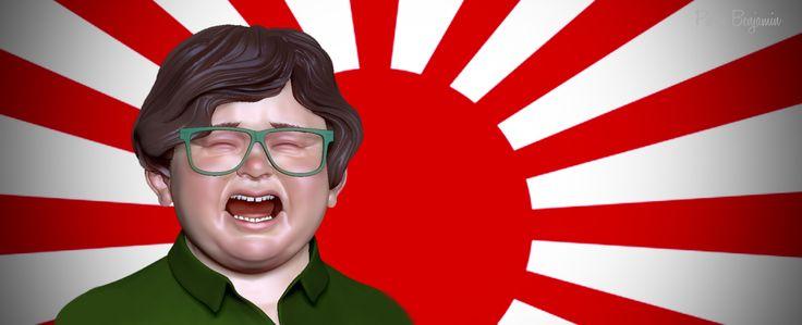 Japanese kid WIP, Pierre Benjamin on ArtStation at https://www.artstation.com/artwork/B9aJz