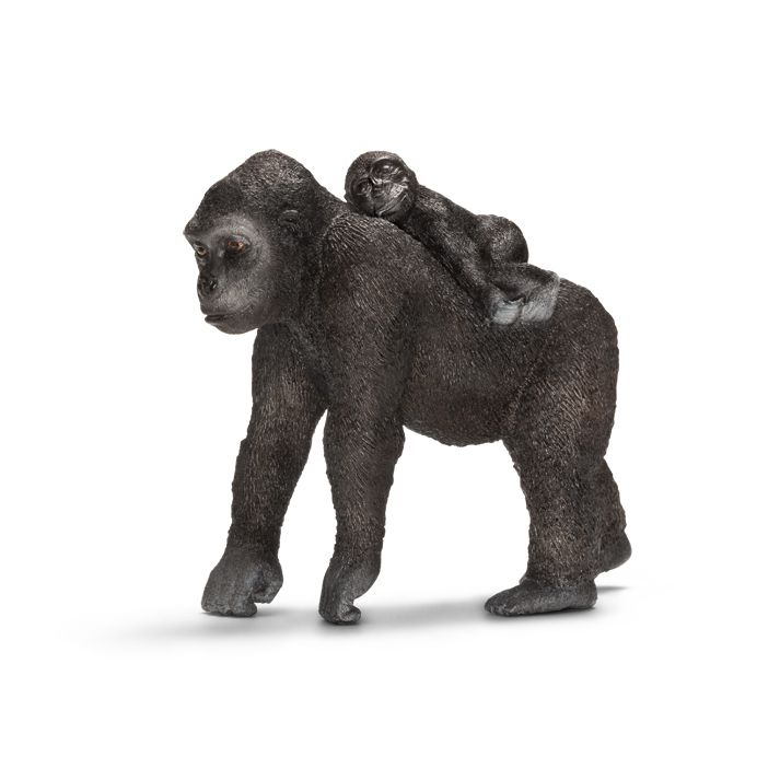 ___Gorilla, female, with baby____ Schleich Figurine available at Fantaztic Learning Store Canada - shop.fantazticcatalog.com