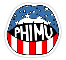 Phi Mu Lips Sticker