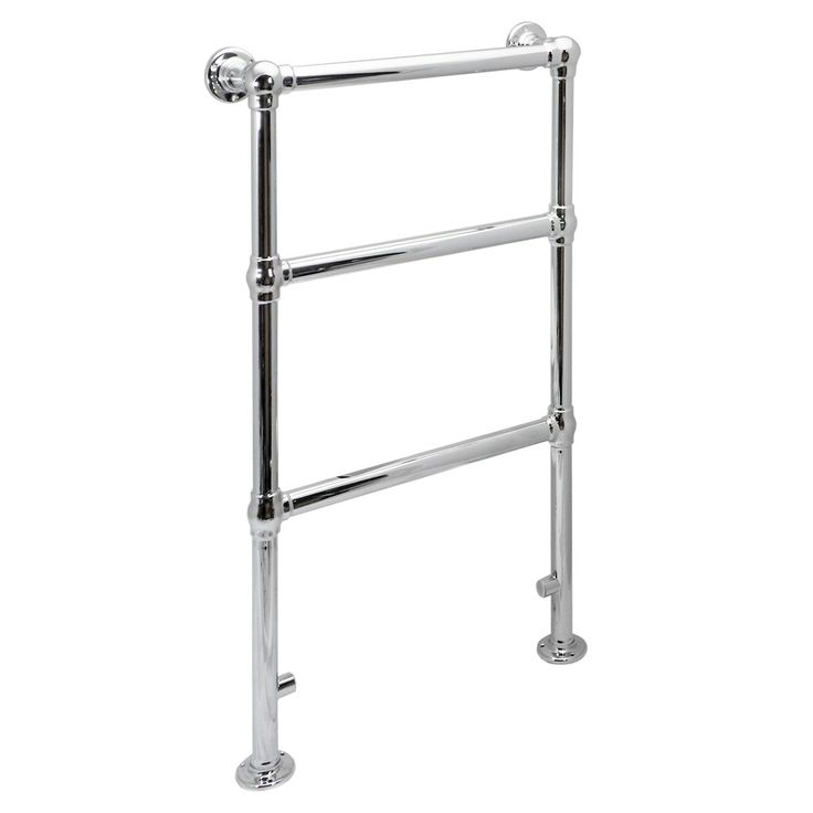 Hamilton Traditional 914 x 535mm Chrome Towel Rail at Victorian Plumbing UK