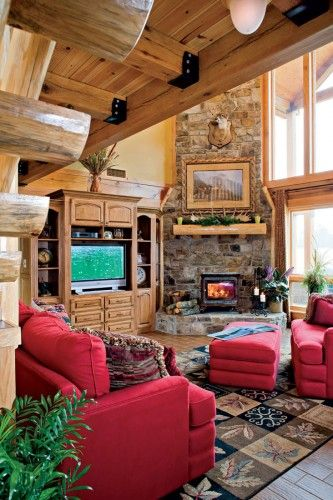 Room Ideas – Great Rooms   Logs, Room and Cabin