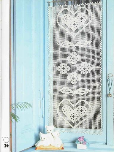 154 best cortinas y visillos de ganchillo crochet images for Cortinas de ganchillo