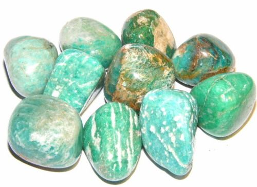 // AMAZONITE is said to help alleviate stress and exhaustion, heal emotional disturbances, help receive inspiration from the heart and then motivates you to take action on the inspired thoughts and stimulates the powers of clairvoyance.   It is said to have been one of the stones used in the breastplate of the high priest, considered a holy stone in Egypt.