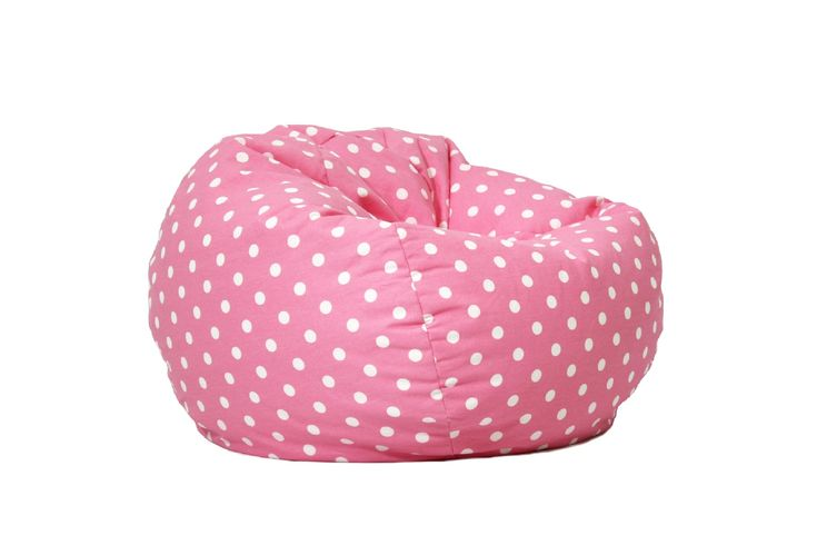 This BeanSack bean bag lounge chair is filled with long-lasting polystyrene beans for ultimate comfort. This bean bag chair has a fun polka-dot pattern and is double stitched for safety.