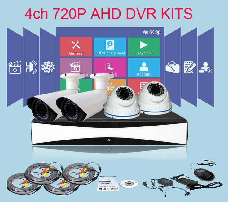 CCDCAM Easy Install Anolog HD camaras de seguridad kit Security Surveillance Kits 4ch 720P AHD DVR Kits for home security