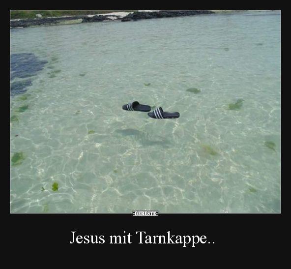 Jesus mit Tarnkappe..   Lustige Bilder, Sprüche, Witze, echt lustig