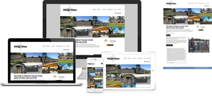 Forge Online creates yet another stunning example of contemporary and functionally powerful Open Source website design for ProBuilt Village Stone.