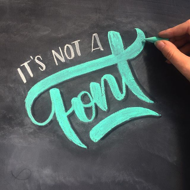 When you discover teal chalk 😳😍 Want to attend a chalk lettering class? I'm teaching one at @workshopmelbourne this Thursday, link in bio or at http://bit.ly/2yp2v7t