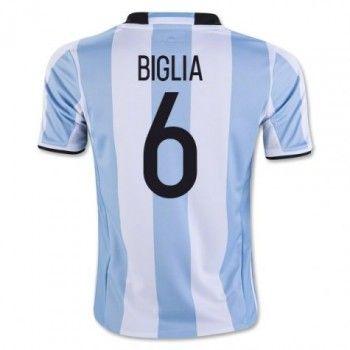 Argentina 2016 Biglia 6 Hemmatröja Kortärmad   #Billiga  #fotbollströjor