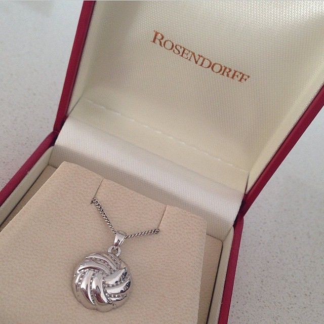 Rosendorff '18ct White Gold Netball Pendant' awarded to West Coast Fever's Player Of The Year.