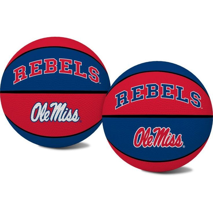 Rawlings Ole Miss Rebels Alley Oop Youth-Sized Rubber Basketball, Team