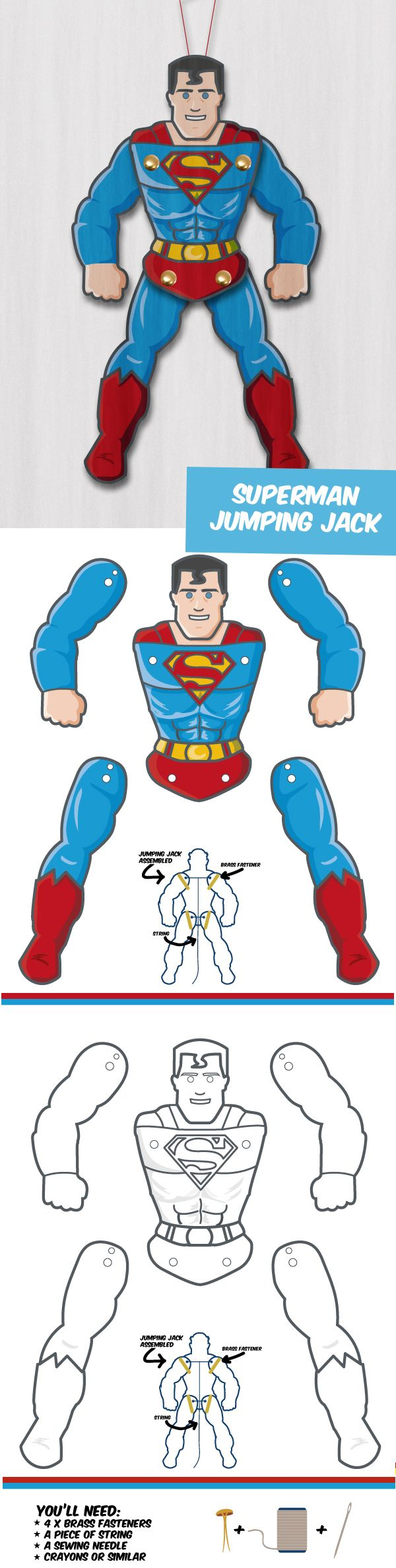 Superman zum Ausdrucken