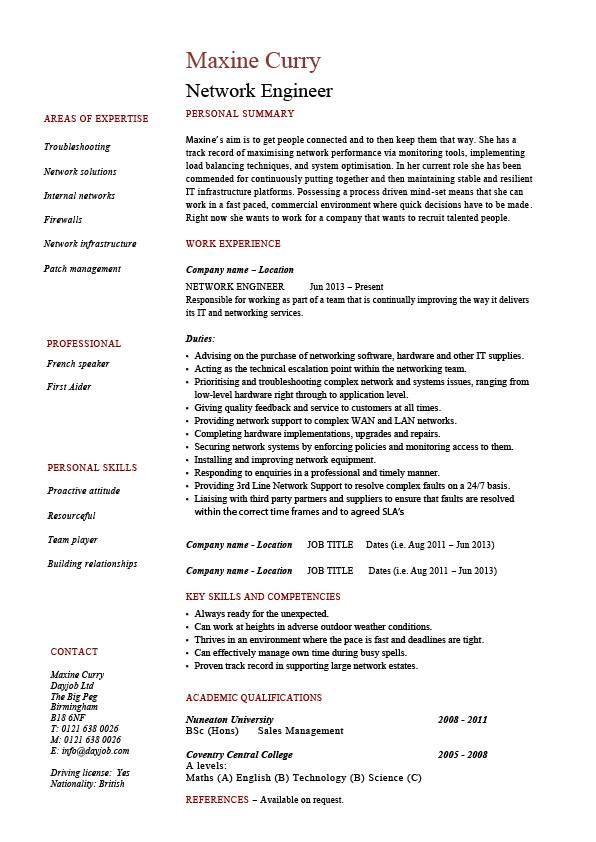 Voip Support Engineer Resume - Vision specialist
