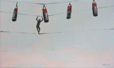 """Saatchi Art Artist Agnieszka Kozień; Painting, """"Under the sky 2"""" #art"""