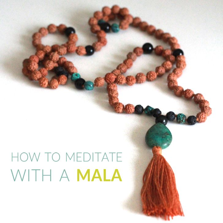 How to meditate with a mala - perfect for those of us who get distracted during meditation!