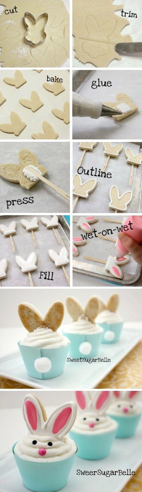 Easter-food idea-Bunny Ear Cupcakes Ideas para comida de Pascuas - Easter food ideas. We ♥ it PanamaFoodies.com