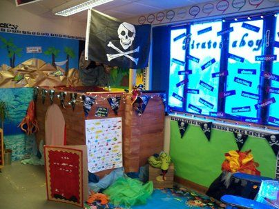 Pirates Ahoy Display, classroom display, class display, Pirates, pirate, jolly roger, treasure, ship, flag, Early Years (EYFS), KS1 & KS2 Primary Resources