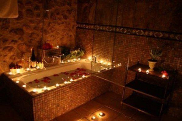 Bathroom Romantic bathroom, excellent romantic bathroom candles decorating ideas for