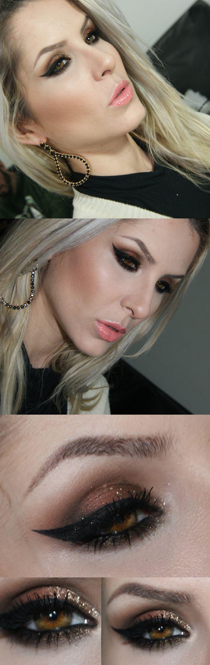make com sombras Senna Cosmetics e pigmento Utopia makeup geek