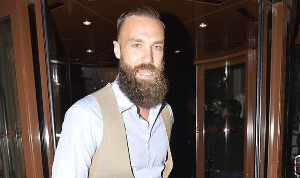 How hipster! A usually clean cut Calum Best steps out with huge bushy beard express.co.uk