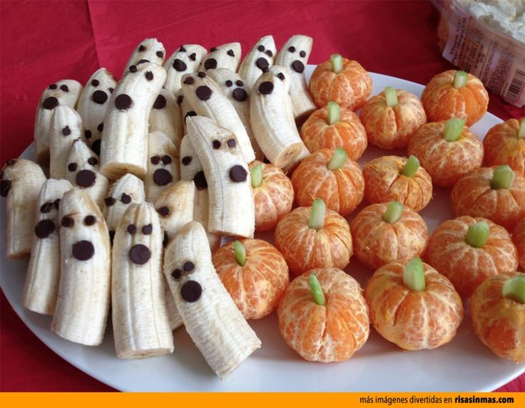 Frutas de postre para Halloween.