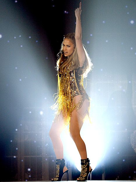 Jennifer Lopez performs onstage during the 2014 Billboard Music Awards.  See all 5 outfits.