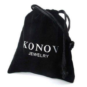 KONOV Bijoux Collier Homme – Chaîne – 5mm Lien Figaro – Acier Inoxydable – pour Homme et Femme – Couleur Argent – Avec Sac Cadeau – F22294