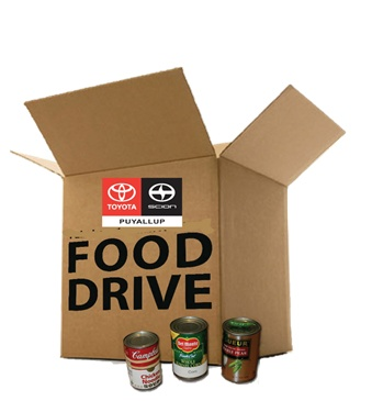 Toyota of Puyallup is proud to support our local community by hosting our 31st annual holiday food drive! Please help support our community by donating non-perishable food items for those in need now through December 31st!