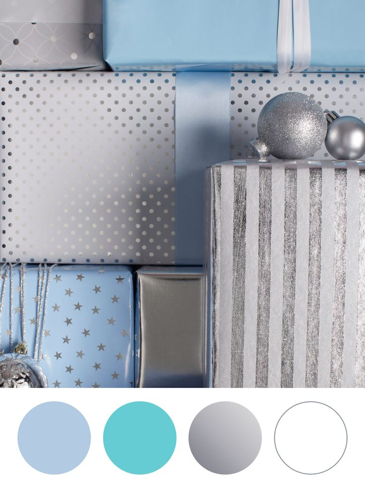 Party Palette: Work with shades of blue and icy silver hues; it will set the mood for your modern winter wonderland affair.