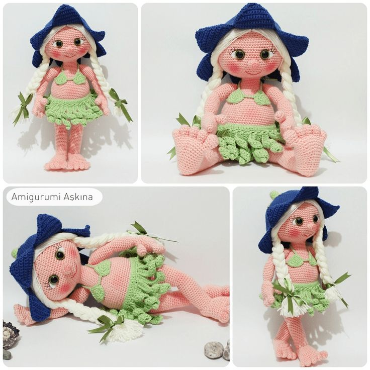 Amigurumi Aşkına: Amigurumi Hawaili Lana Doll Yapılışı-Amigurumi Fre...