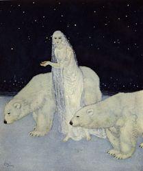 edmund dulacThe Queens, Polar Bears, Illustration, Art, Edmund Dulac, Snowqueen, The Dreamer, Fairies Tales, Snow Queens