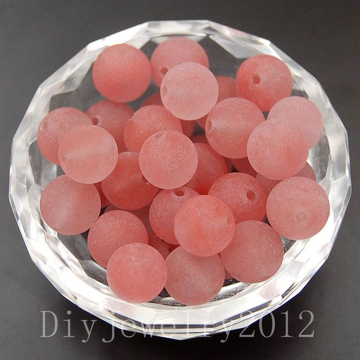 Matte Cherry Quartz 4mm 100pcs Frosted Gemstone Round Loose Beads Diy Jewelry