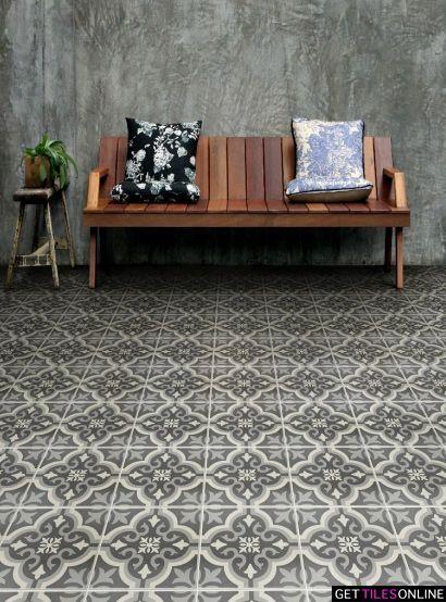 Moroccan Charcoal Matt 200x200 (Code:01329) - Get Tiles Online