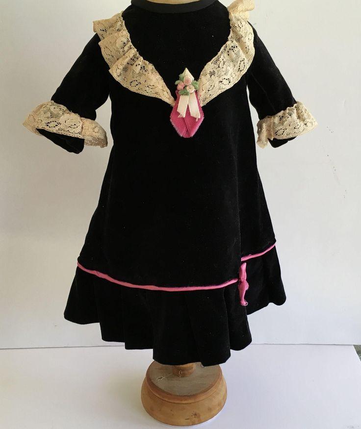 Vintage Velvet Doll Dress