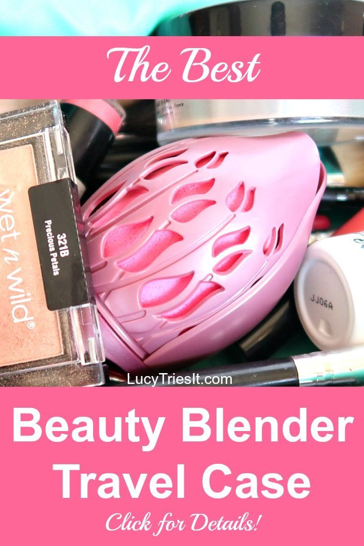 Wondering how to properly store a beauty blender for travel? Well, look no further because I have found the best ever beauty blender travel case! #beautyblender #makeup #beautyblogger #makeupblog #makeuptips