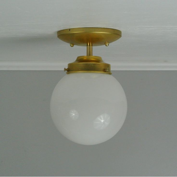 Traditional Glass Globe Flush Mount Light