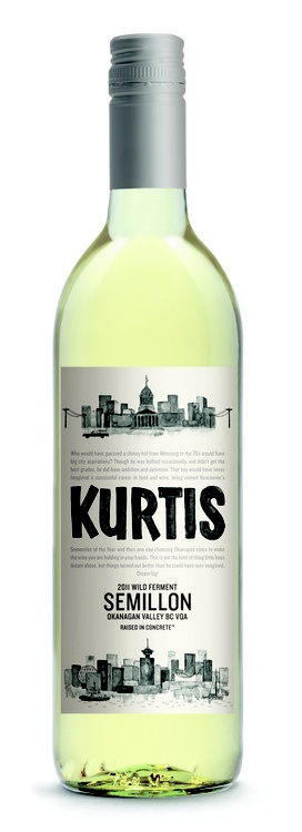 """Kurtis"" Semillon  Commissioned for Okanagan Crush Pad Winery. http://www.okanagancrushpad.com/"