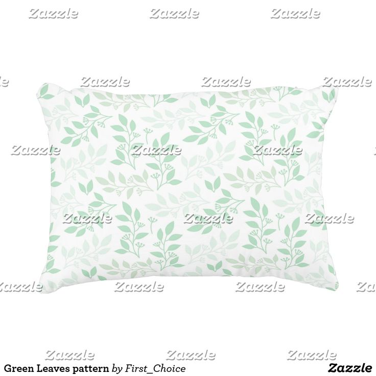 Green Leaves pattern Accent Pillow