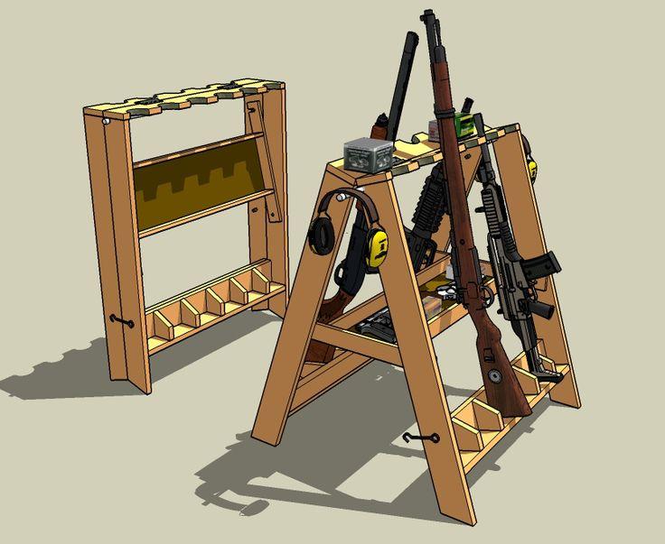 Portable gun rack