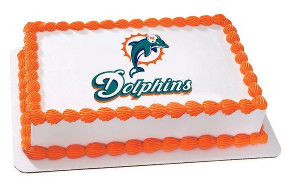 miami dolphins edible image cake topper