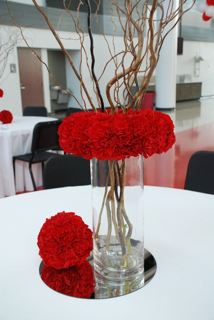 Trending Red Carnation Centerpiece                                                                                                                                                                                 More