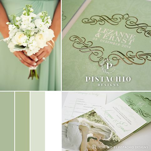 Elegant one fold wedding invitation with classic laser cut for final touch made with www.pistachiodesigns.co.za