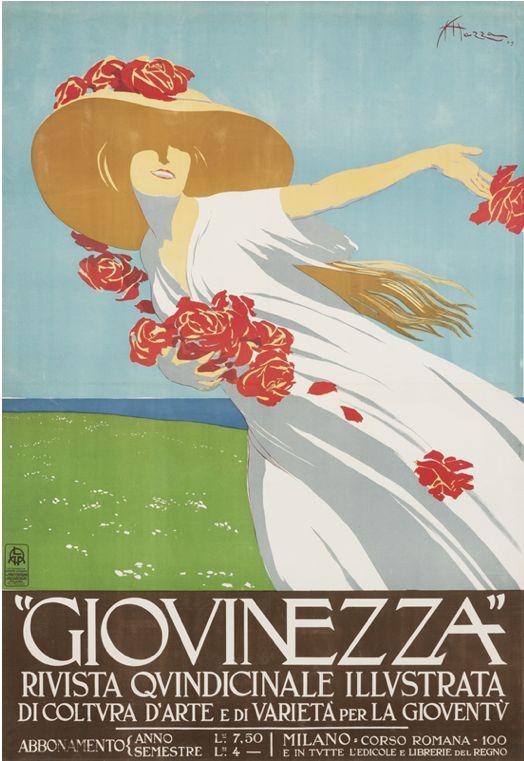 Poster by Aldo Mazza, 1909, Giovinezza. (I)