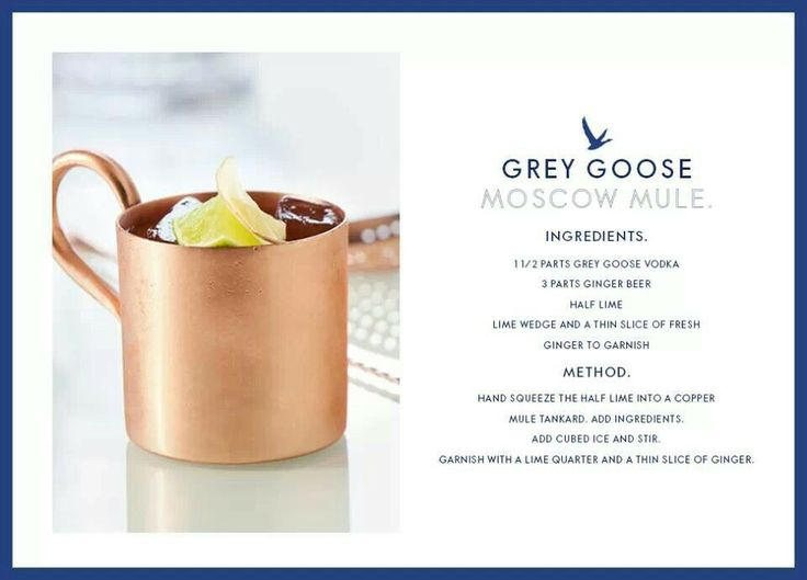 Moscow Mule Grey Goose Style Pretty Little Drinks