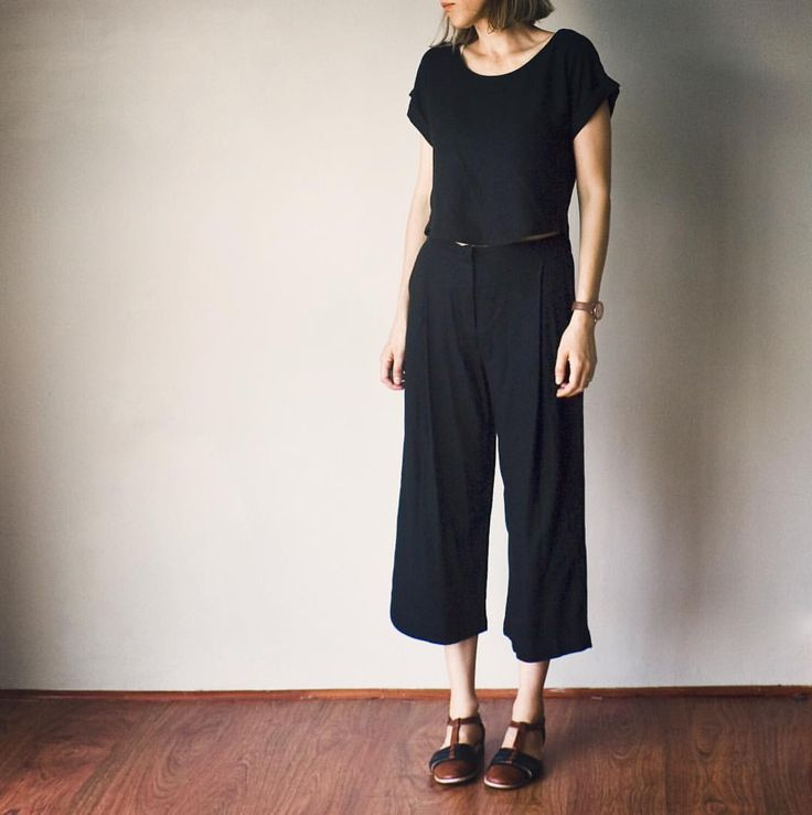 Burdastyle culottes 8/2015 and Self-drafted top in viscose twill