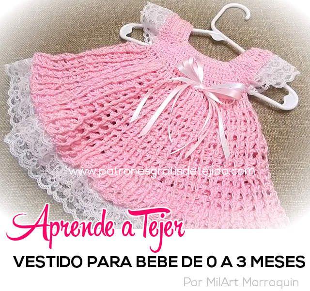 432 best Ropa de bebés y niñas a crochet images on Pinterest ...