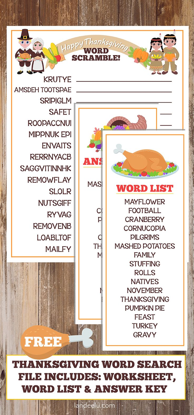Easily print this Thanksgiving worksheet for kid to do on Thanksgiving!