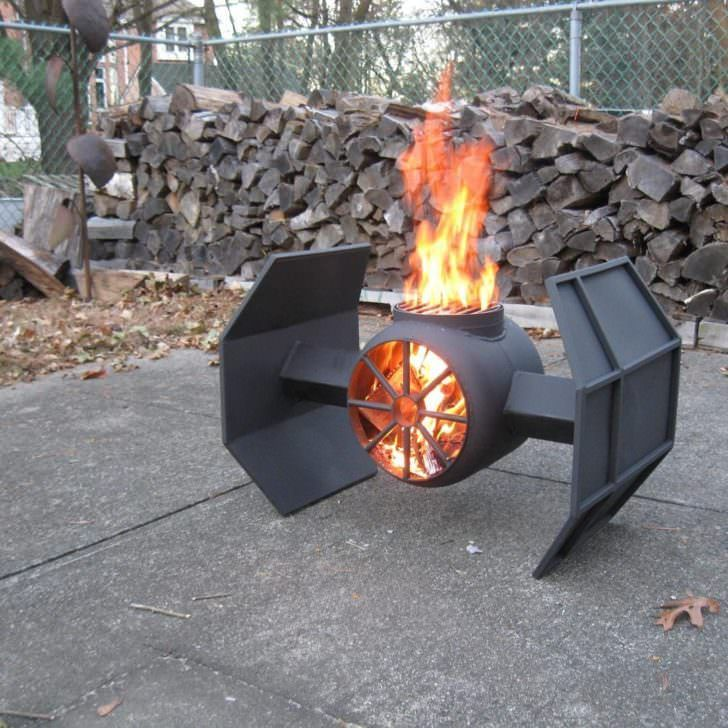 31 Best Star Wars, Comics and Earth Fire Pits 9 - Fire Pits & Grills - 1001 Gardens